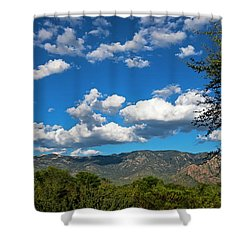 Shower Curtain featuring the photograph Catalina Mountains H48 by Mark Myhaver