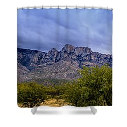 Shower Curtain featuring the photograph Catalina Mountains P1 by Mark Myhaver