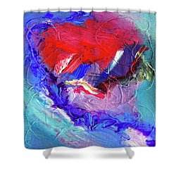 Shower Curtain featuring the painting Catalyst by Dominic Piperata