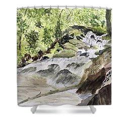 Catawba Falls - A Watercolor Sketch Shower Curtain