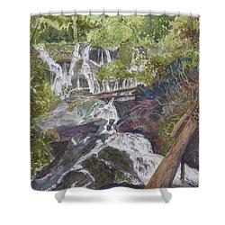 Catawba Falls - Working Notes Shower Curtain