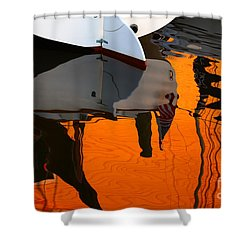 Catboat Reflection Shower Curtain