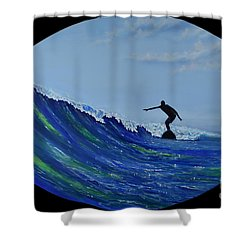 Catch A Wave Shower Curtain