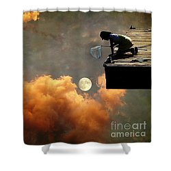 Catch The Moon Shower Curtain