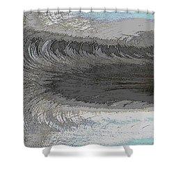 Catch The Wave Shower Curtain by Tim Allen