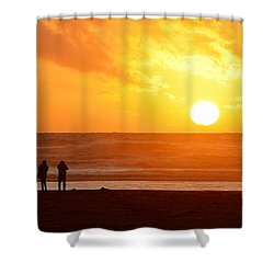 Shower Curtain featuring the photograph Catching A Setting Sun by AJ Schibig