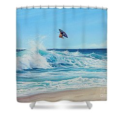 Catching Air Shower Curtain by Joe Mandrick