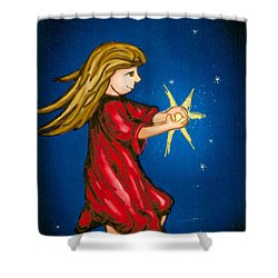 Catching Moonbeams Shower Curtain by Jana Nielsen