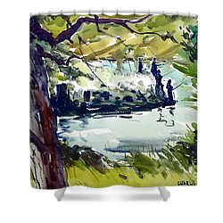 Catching Summer Dreams Framed Matted Glassed Shower Curtain