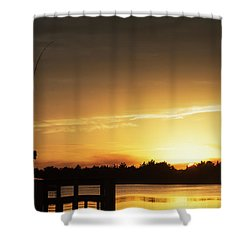 Catching The Sunset Shower Curtain