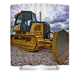 Caterpillar 650j Shower Curtain