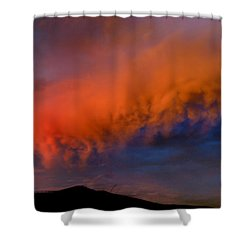 Caterpillar Cloud In The Sky Shower Curtain