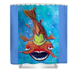 Catfish Clyde Shower Curtain