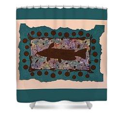 Catfish Silhouette Shower Curtain