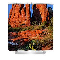 Cathedral 06-074 Shower Curtain by Scott McAllister