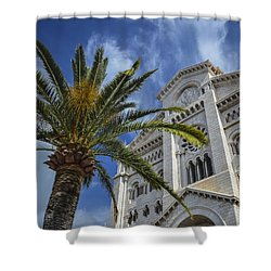 Shower Curtain featuring the photograph Cathedral At Monte Carlo by Allen Sheffield