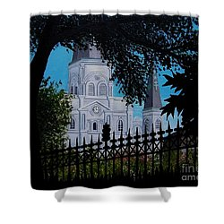 Cathedral At The Square Shower Curtain