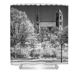 Shower Curtain featuring the photograph Cathedral Basilica Of The Sacred Heart Ir by Susan Candelario