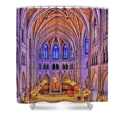 Shower Curtain featuring the photograph Cathedral Basilica Of The Sacred Heart Newark Nj II by Susan Candelario