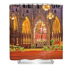 Shower Curtain featuring the photograph Cathedral Basilica Of The Sacred Heart Newark Nj by Susan Candelario