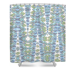Cathedral Blue Tapestry Shower Curtain