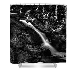 Cathedral Falls From The Tioga Pass Road Shower Curtain
