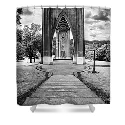 Cathedral Gates Shower Curtain by Ryan Manuel