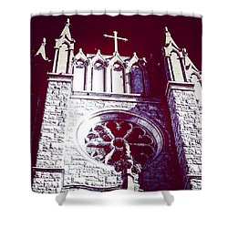 Cathedral In Archangel Glow Shower Curtain
