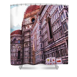 Shower Curtain featuring the photograph Cathedral In Rome by Linda Constant