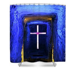 Cathedral In The Salt Mine Shower Curtain