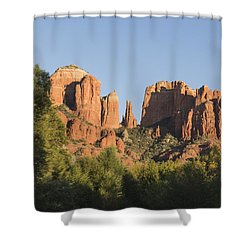 Cathedral In The Trees Shower Curtain