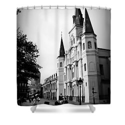 Cathedral Morning 2 Shower Curtain by Perry Webster