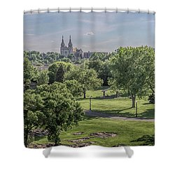 Shower Curtain featuring the photograph Cathedral Of St Joseph #2 by Susan Rissi Tregoning