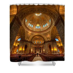 Cathedral Of St Paul Wide Interior St Paul Minnesota Shower Curtain