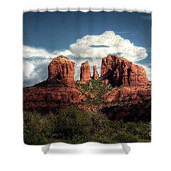 Cathedral Rock - Sedona  Shower Curtain by Saija  Lehtonen
