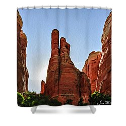 Cathedral Rock 05-155 Shower Curtain by Scott McAllister