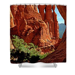 Cathedral Rock 06-124 Shower Curtain by Scott McAllister