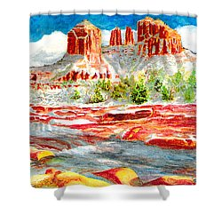 Cathedral Rock Crossing Shower Curtain
