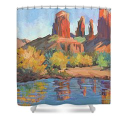 Moonrise Cathedral Rock Sedona Shower Curtain
