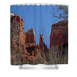 Shower Curtain featuring the photograph Cathedral Rock View by Roger Mullenhour