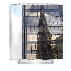 Cathedral Spires Reflected Shower Curtain