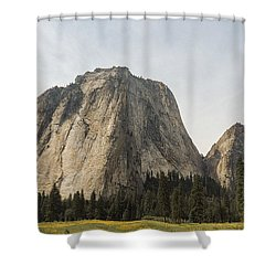 Cathedral Spires Yosemite Valley Yosemite National Park Shower Curtain