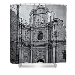 Shower Curtain featuring the photograph Cathedral Valencia Spain by Joan Carroll