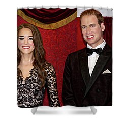 Shower Curtain featuring the photograph Catherine And Prince William by Miroslava Jurcik
