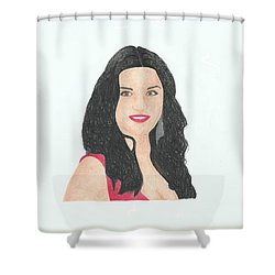 Catherine Zeta Jones Shower Curtain