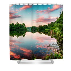 Cathey's Reflection Shower Curtain