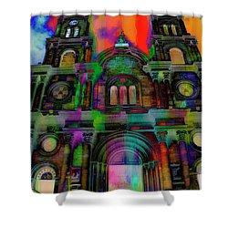 Catholic Church At Chordeleg, Ecuador Shower Curtain by Al Bourassa