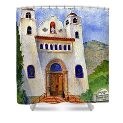 Catholic Church Miami Arizona Shower Curtain