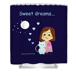 Cathy And The Cat Sweet Dreams Shower Curtain