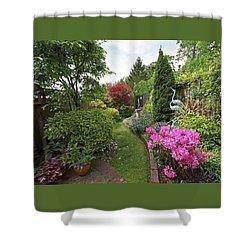 Cathy's Garden - A Little Slice Of England Shower Curtain by Gill Billington